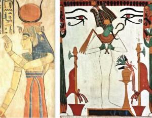 Figura 3: Gli Dei Iside e Osiride