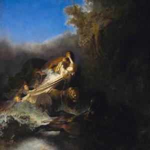 """Figura 2: """"Ratto di Proserpina""""  Rembrandt Harmenszoon Van Rijn. 1632, conservato allo  Staatliche Museen di Berlino"""